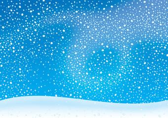 Spoed Fotobehang Blauw Snowstorm