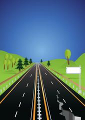 earthquake road