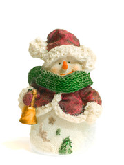 Snowman toy, isolated