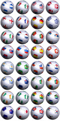 Soccer balls with flags