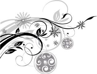 christmas element, Weihnachten, Ranke, xmas, floral