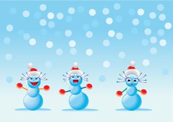 Children of the snowmen
