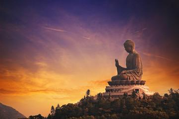 Photo sur Plexiglas Buddha Tian Tan Buddha (Hong Kong, Lantau Island) ....