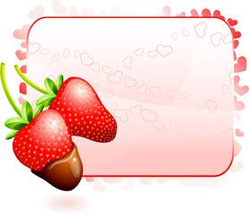 Strawberry Valentine's Day design background