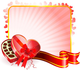 Dark Chocolate box Valentine's Day design background