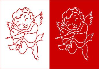 Cupid Angel Valentine's Day design background