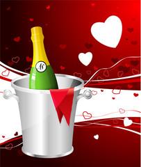 Champagne Valentine's Day design background