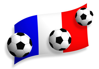 soccer balls & flag of France