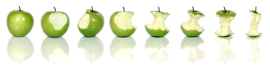 eating green apples