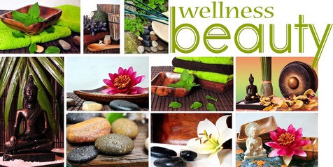 Wellness Beauty Collage