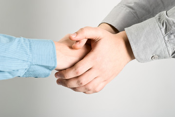 Shaking hands. Clipping path included.