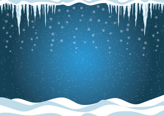 Winter background. Christmas Vector illustration.