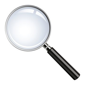 Realistic vector magnifying glass