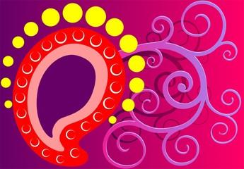 Illustration of art abstract in inertial design