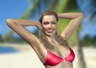 Bikini Top Pose karibik