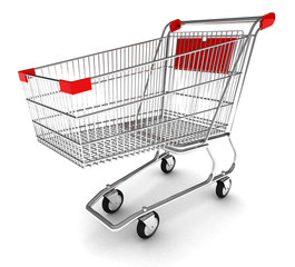 Shopping cart with clipping path