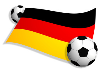 soccer balls & flag of Germany