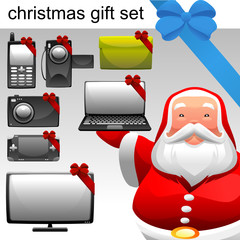 christmas concept electronic set