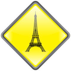 """Panneau """"Tour Eiffel"""" (Paris - Toursime - Monument - Vecteur)"""