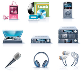 Vector household appliances icons. Part 9