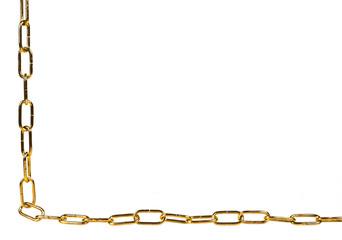 Fototapeta Złoty łańcuch w lewyn dolnym rogu obraz