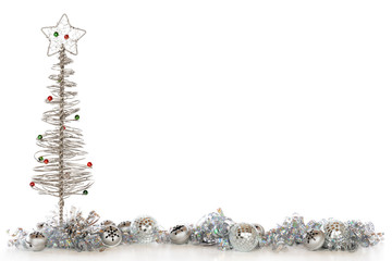Silvery Christmas Border