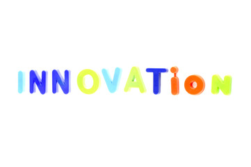 Word Innovation From Plastic Toys Letters