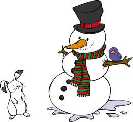 Schneemann, Snowman, Winter, Weichnachten