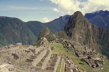 View of the Citadel of  Machu Picchu, Peru.