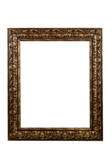Ornate frame on white with copy space