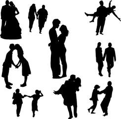 couples in love - vector