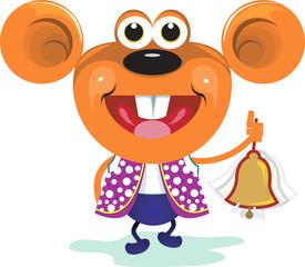 Illustration of a rat ringing a bell