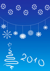 blue abstract bg new year
