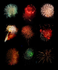 Collection Salute, fireworks