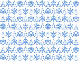 Light blue christmas pattern