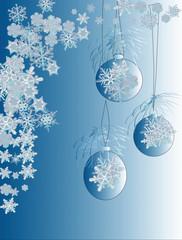 blue christmas background illustration