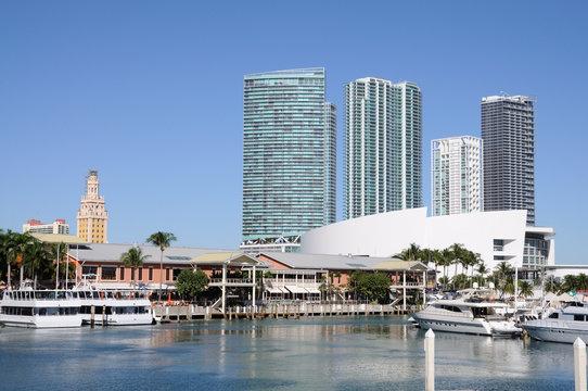 Miami Bayside Marina, Florida USA