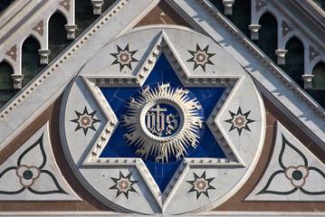 Dettaglio Del Rosone  Della Basilica Di Santa Croce Di Firenze