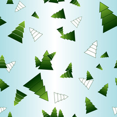 vector seamless patern of christmas trees