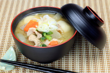 pork miso soup(tonjiru)