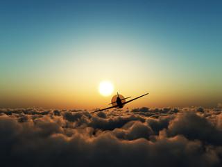 Propeller Plane In The Sky