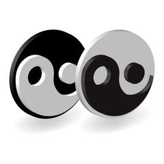 yin yang 3d sign