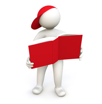 3D Man with Book