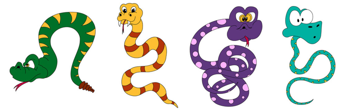 Snake cartoons
