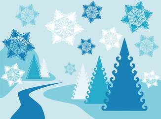 Christmas winter background. vector