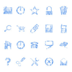 pen sketch drawed icons