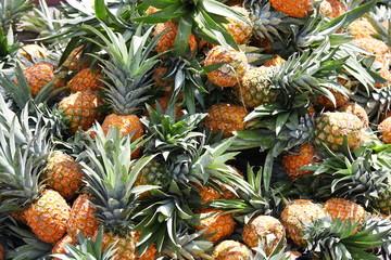 Pineapples at fruit market