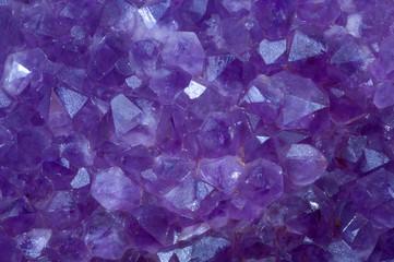 amethyst crystal stone detail