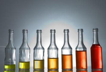 Courbe de croissance - bouteilles en verre