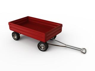 Red truck cart